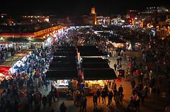Night market in Marrakech (vil.sandi) Tags: nightmarket marrakech nachtmarkt medina crowded djemaaelfna marocco