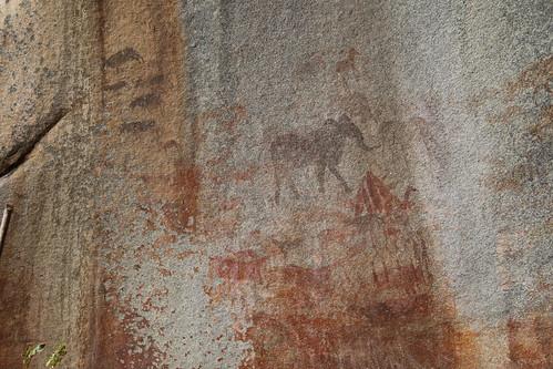 Rock paintings, Domboshawa Zimbabwe