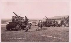 Anti-aircraft guns on the cliff top Gun Park range at Doniford, c.1930 (greentool2002) Tags: antiaircraft guns cliff top gun park range doniford