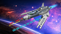 Grau Eins (CK-MCMLXXXI) Tags: lego starfighter spaceship ldd digital moc fighter