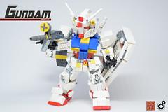 8. Gundam FBO Front 2 (Sam.C (S2 Toys Studios)) Tags: rx782 gundam mobilesuit legogundam lego moc samc s2toys 80s scifi mecha anime japan spacecraft