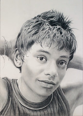 Pencil drawing: Portrait of a Sri Lankan Boy (Dennis Candy) Tags: drawing portrait face pencil art boy youth expression