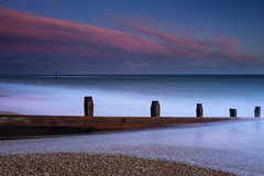 Contrasting Colours (Sunset Snapper) Tags: contrastingcolours sunset sandypoint haylingisland hampshire southcoast uk beach shingle groyne seadefence pink clouds windy facingeast filters lee littlestopper nd grad nikon d810 2477mm le longexposure posts march 2017 sunsetsnapper