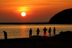 Sundowners (Peter Denton) Tags: sunset beach ngapali bayofbengal sea burma myanmar ©peterdenton canoneos100d nature seascape peace peaceful tranquil tranquillity quiet tamron70300mm1456