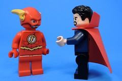 I Heard You Like To Mess up the Timeline (MrKjito) Tags: lego minifig super hero comic comics flash doctor strange time controll mess timeline marvel dc crossover