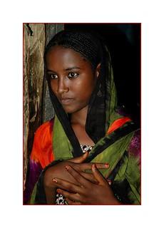 beautiful girl Afar