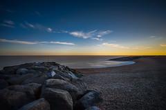 Less is more... (TanzPanorama) Tags: seascape water beach england englishcoast rock stone skyline tanzpanorama fe1635mmf4zaoss sel1635z sonya7ii a7ii flickr horizon sky coast sussex folkestone variotessartfe1635mmf4zaoss dusk sunset landscape wow