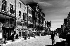 Bridge Street Chester (18mm & Other Stuff) Tags: blackandwhite victorian buildings england chester gb uk infrared bridgestreet nikon d7200 white monochrome