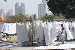 White robes - Mumbai (DecaFlea) Tags: india bombay mumbai colorful color colors exploring explore asia travel travelling white cleaning laundry laundries robes people street sony sun sunny