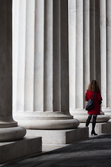 Woman in Red (FButzi) Tags: genova genoa italy italia teatro carlo felice red columns woman dress