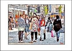 LIVERPOOL GIRLS (DEREK HYAMSON . OVER 5 AND A HALF MILLION) Tags: hdr candids girls churchstreet liverpool