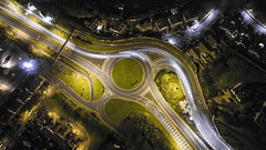 Roundabout [Explored 03/04/2017] (Alex Martin..) Tags: roundabout night drone phantom light painting cars loughlinstown