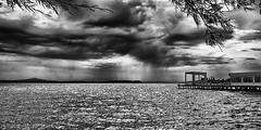 Clouds and Rain / Wolken en Regen (jo.misere) Tags: clouds wolken bw zw lago trasimeno umbrien regen rain