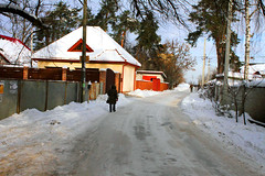 Plyuta snowy streets of the village, Obukhov district, Kiev region, Ukraine (Igor Golovnov) Tags: road houses winter light woman brown white snow man streets cold tree ice nature pine rural forest season landscape town flora frost december day village russia snowy top moscow district country seasonal frosty scene ukraine pole lane straight residential region kiev spruce forward snowscape furtree winterroad obukhov plyuta