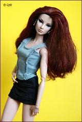 Giselle (astramaore) Tags: red orange fashion toy model doll redhead mais giselle royalty oui greyeyes fashionroyalty