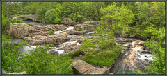 Dells of the Eau Claire - the Big Picture (ScottElliottSmithson) Tags: panorama nature water wisconsin forest canon landscape eos claire woods rocks eau natural state bracket rocky rapids geology wi hdr elliott dells riverrapids northernwisconsin photomatix eauclaireriver dellsoftheeauclaire eos7d northcentralwisconsin dtwpuck smithsonscott clairedells parkdells preserveantigowausaudtwpuckscott smithsonscottelliottsmithsoneau riverpanoramadells