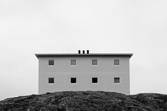 on the rocks (Thomas Leth-Olsen) Tags: house geometric symmetry minimal greenland ontherocks modernarchitecture nuuk whitesky