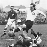 Soccer. Denmark - Germany. Germany won 1-0. Hamburg, November 1940.