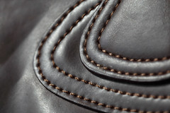 bag (Patrick JC) Tags: macro leather bag theme stitching macromondays