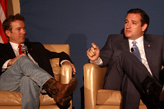 Rand Paul & Ted Cruz (Gage Skidmore) Tags: ted mike jeff arlington paul liberty for virginia george university mason young cruz national lee convention americans rand frazee 2013