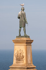 Into the blue (Steve Bird1) Tags: statue james gull yorkshire cook whitby resolution elementsorganizer