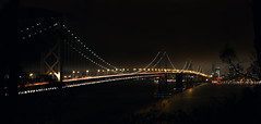 panorama the Bay Bridge (OlgaTsar) Tags: bridge panorama bay san francisco