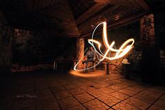 Playing with fire II (Aadilsphotography) Tags: orange night canon photography long exposure angle wide studios streaks 10mm aadils fadils