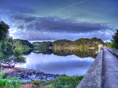 Dam sunrise 13th August (Aussie.in.Guernsey) Tags: olympus hdr guernsey omd 14mm photomatixpro em5 panasoniclumix14mmf25