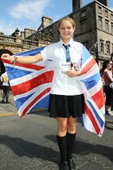 Edinburgh Fringe 2013: Bassett (chairmanblueslovakia) Tags: street festival jack scotland high union scottish fringe schoolgirl bassett