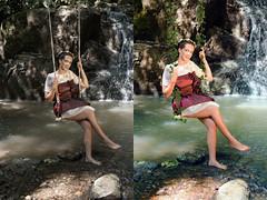 """""""sans titre"""" (Anto Retouche) Tags: portrait woman photomanipulation photoshop eau shoot lumire femme shooting mode extrieur retouching couleur fort beforeafter verticale naturelle retouche modle ruisseau retoucheur"""