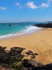 Porthgwidden Beach (Likkle Oy) Tags: sea beach sand rocks waves stives rockpool porthgwidden