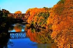 Colorful river scenery