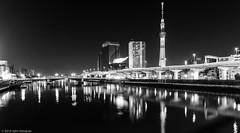 Three Hundred Sixty-Five (9bladed) Tags: asahibeerhall asahiflame asakusa japan night odop river sumida sumidagawa tokyo tokyoskytree  taito cityscape