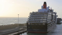 Queen Victoria (oxfordblues84) Tags: cruise vacation italy water port dock ship cruising cruiseship stern cunard queenvictoria ncl norwegianspirit civitavecchia cunardline norwegiancruiseline norwegianspiritcruise