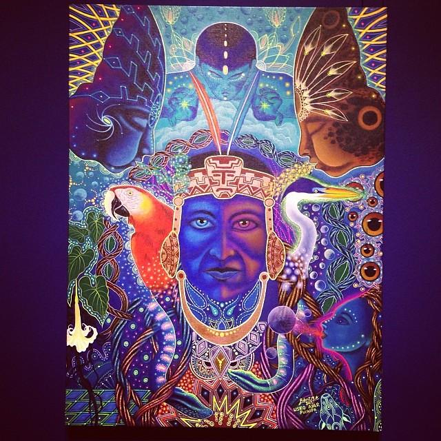 """Robert Montes Amaringo """"Usko Ayar"""" • """"La escuela de las Visiones"""" #art #arteenlima #artinlima #arte #artist #artista #painting #pintura"""