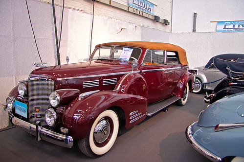 Cadillac Series 75 Fleedwood Convertible Sedan 1938 (3277)