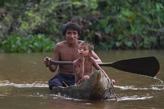 (marcwiz2012) Tags: people southamerica river child venezuela transport delta canoe local dugout orinoco indigenouspeople localpeople