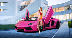 "Lamborghini Aventador ""Pinky & Brain"" (Nike_747) Tags: mandy auto pink blue light red italy black cold color sexy green girl car sport yellow gold warm 4 wheels super bull class diamond exotic v lp brake hyper 12 carbon miss 700 tuning lamborghini rare brilliant supercar tiffanyblue v12 pinkybrain lambo lange dione hypercar aventador lp7004 naksphotographydsign"