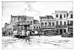 Porto Alegre Rua Voluntários da Pátria e Praça XV início sécXX