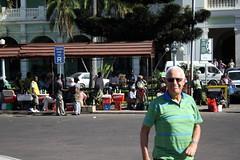 Vor dem Bahnhof in Maputo