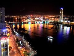 Da Nang City at night, Vietnam