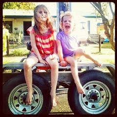 Zoe Evangellne and Daisy Belle. Zoe's sixth birthday. (miaow) Tags: birthday summer 6yo sixthbirthday