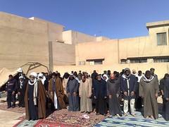 Sheikh leading the prayer during Arbaeen in Karbala