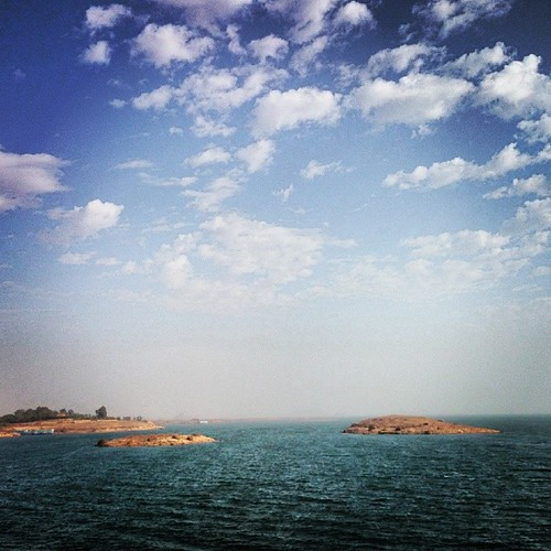 """#BelovedEgypt: Lake Nasser is a vast reservoir in southern Egypt, and northern Sudan, and is one of the largest man-made lakes in the world. Strictly, """"Lake Nasser"""" refers only to the much larger portion of the lake that is in Egyptian territory (83% of t"""