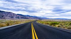 Roads (Mixmaster) Tags: california road sky yellow clouds corner dark fuji bend dramatic line fujifilm x100