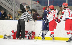 DSC_0034 (K.M. Klemencic) Tags: school red hockey high shaker playoffs hudson explorers raiders ohsaa vision:text=0624 vision:outdoor=0779 varisyt