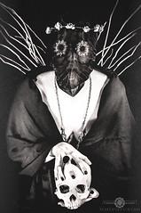 Freakshow - The Shaman (Simone Furia (Anomalia)) Tags: white black girl dark photography skull creepy horror macabre witchcraft shaman satanic esoteric obscure anomalia nontime