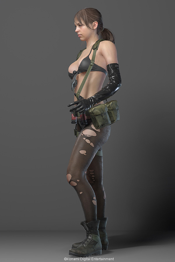 狙擊手是不需要防禦力的!《潛龍諜影5:幻痛》性感美女狙擊手「Quiet」即將公開!
