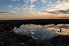 DSC_4824 (logancros) Tags: ocean sunset sky sun reflection water weather clouds landscape mirror bay newjersey nikon glow wind earth gorgeous reflect environment marsh nikond3200 whisping