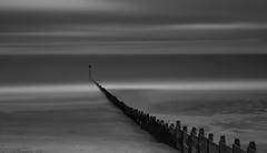 IMGP0239.jpg (Johnbasil1) Tags: wood sea bw beach contrast coast sand surf pentax le groyne blyth k3 10stop